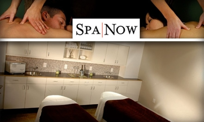 SpaNow - Greenway/ Upper Kirby: $99 for a One-Hour Couple's Massage with Champagne, Strawberries, and Chocolate at SpaNow