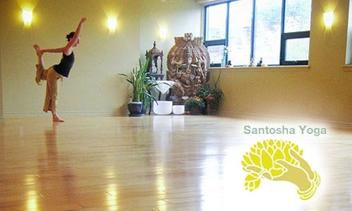 Santosha Yoga - Multiple Locations:  $30 for One Month of Unlimited Yoga at Santosha Yoga ($108 Value)