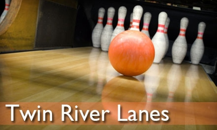 Twin River Lanes - Mount Pleasant: $25 for Two Hours of Bowling and Shoe Rental for Up to Five People, Plus One Large Pizza and Pitcher of Soda at Twin River Lanes (Up to $93 Value)