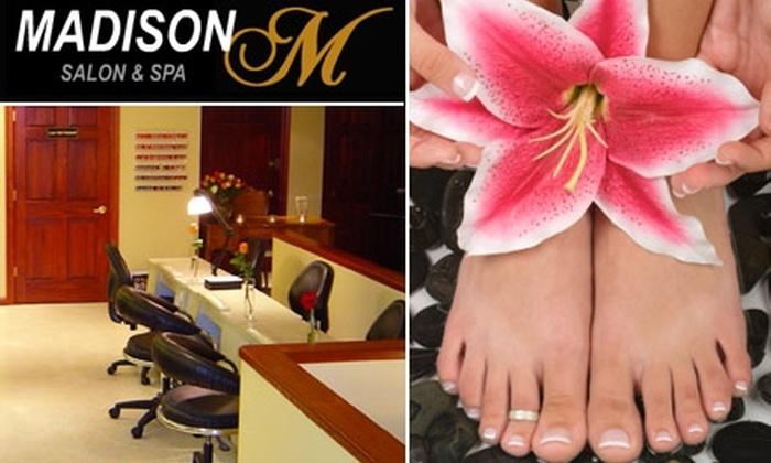 Madison Salon & Spa - Woodbury: $20 for One Manicure-Pedicure at Madison Salon & Spa