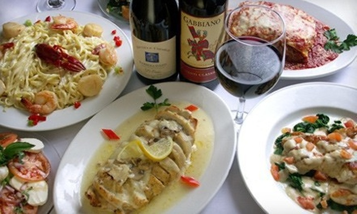 Mama's On The Hill - The Hill: Italian Meal with Entrees and Wine for Two or $50 for $100 Worth of Italian Cuisine at Mama's On The Hill