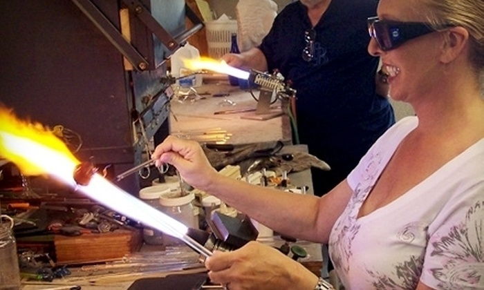 Zen Glass Studios - St. Petersburg: Make-Your-Own-Wineglass Workshop or Private Workshop for Four at Zen Glass Studios in St. Petersburg