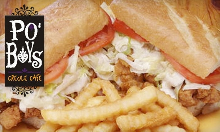 Po' Boys Creole Cafe - Multiple Locations: $10 for $20 Worth of New Orleans–Themed Cuisine at Po' Boys Creole Cafe