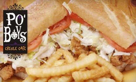 $20 Groupon to Po' Boys Creole Cafe - Po' Boys Creole Cafe in Tallahassee