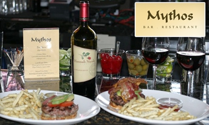 Mythos - San Carlos: $12 for $25 Worth of Mediterranean Fare and Drinks at Mythos in San Carlos