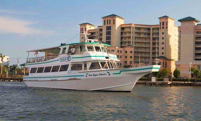 """Fort Myers Princess - Fort Myers Beach: Two-Hour Dolphin Tour or Sunset Party Cruise for One or Two on The """"Fort Myers Princess"""" (Up to 48% Off)"""