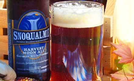 Pints and Refillable Growlers for Two or Four at Snoqualmie Brewery & Taproom (48% Off)