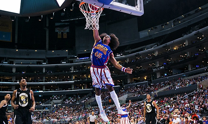 Harlem Globetrotters  - SNHU Arena: Harlem Globetrotters Game at Verizon Wireless Arena on Friday, March 20, at 7 p.m. (Up to 45% Off)