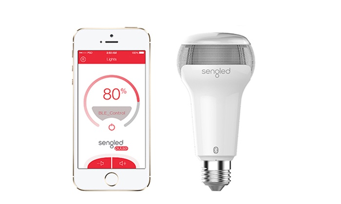 Sengled Pulse Solo Dimmable LED Lightbulb with Bluetooth Speakers ...  sc 1 st  Groupon & Pulse Solo Bluetooth Lightbulb   Groupon Goods