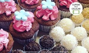 Espaço Chef de Cuisine Café - Unidade 3: Espaço Chef de Cuisine – Centro:kit festa para 10, 20 ou 40 pessoas com bolo, doces e minicupcakes