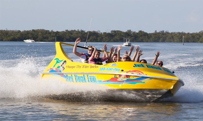 Jet Boat Fun LLC - Salty Sam's Marina and Parrot Key Caribbean Grill: $42 for a 30-Minute Jet-Boat Ride for Two from Jet Boat Fun LLC ($70 Value)