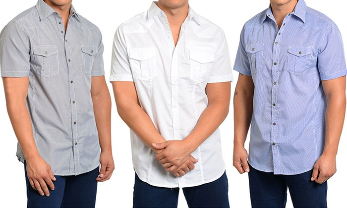 Mens Button Down Short Sleeve Shirts | Is Shirt
