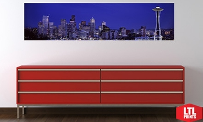 Larger Than Life Prints - Seattle: $35 for a Panoramic Wall Mural from Larger Than Life Prints