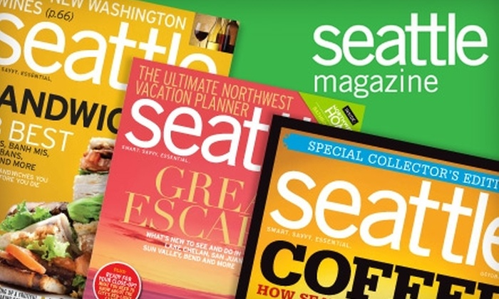 """""""Seattle"""" magazine - Seattle: $9 for 14 Issues of """"Seattle"""" Magazine ($18.95 Value)"""