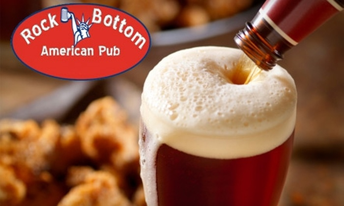 Rock Bottom American Pub - Montgomery: $10 for $20 Worth of Upscale Pub Fare and Drinks at Rock Bottom American Pub