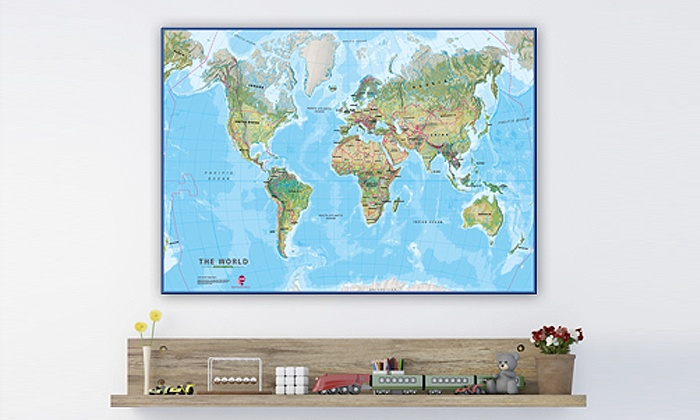 Childrens Wall Maps Groupon Goods - Childrens wall map