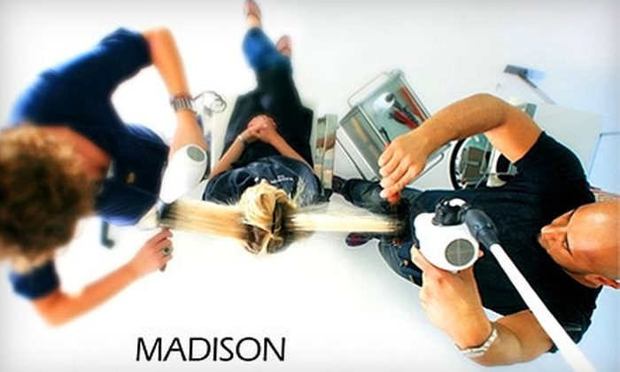 Madison Salon - Newport Beach: $39 for Haircut, Wash, Blow-Dry, and Conditioning Treatment at Madison Salon in Newport Beach