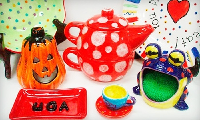 Blue Frog Arts - Elberton: $10 for $20 Worth of Paint-Your-Own Pottery at Blue Frog Arts
