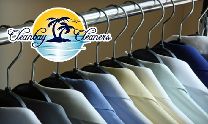 Cleanbay Cleaners - Multiple Locations: $15 for $40 Worth of In-Store or Delivery Dry Cleaning at Cleanbay Cleaners
