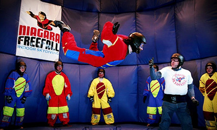 Niagara Freefall Indoor Skydiving & Interactive Center - Hamilton: $69 for Six-Minute Indoor-Skydiving Experience at Niagara Freefall Indoor Skydiving & Interactive Center ($141.60 Value)