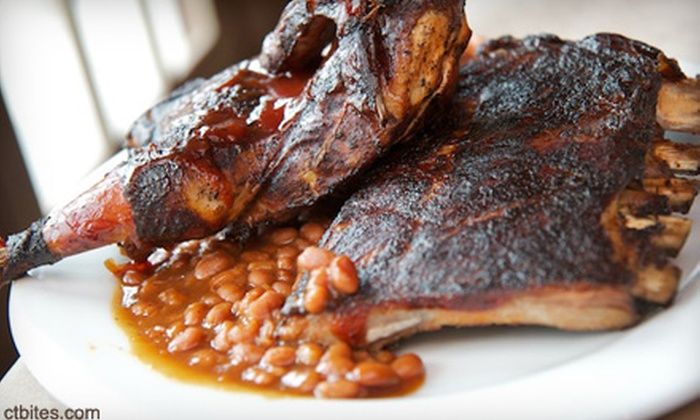BJ Ryan's BANC House - Central Norwalk: Barbecue and Seafood Fare on a Weekday or Weekend at BJ Ryan's BANC House (Up to Half Off)