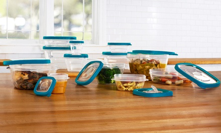 24-Piece Plastic Food Storage Container Set with Steam Vents. Free Returns.
