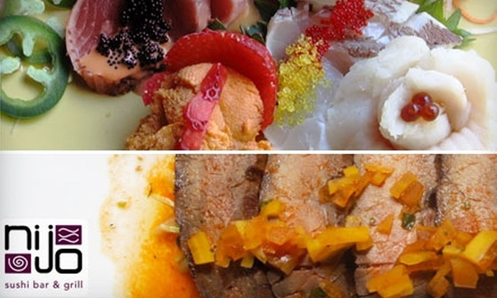 Nijo Sushi Bar & Grill - Central Business District: Fresh Fare at Nijo Sushi Bar & Grill. Choose Between Lunch and Dinner Options.