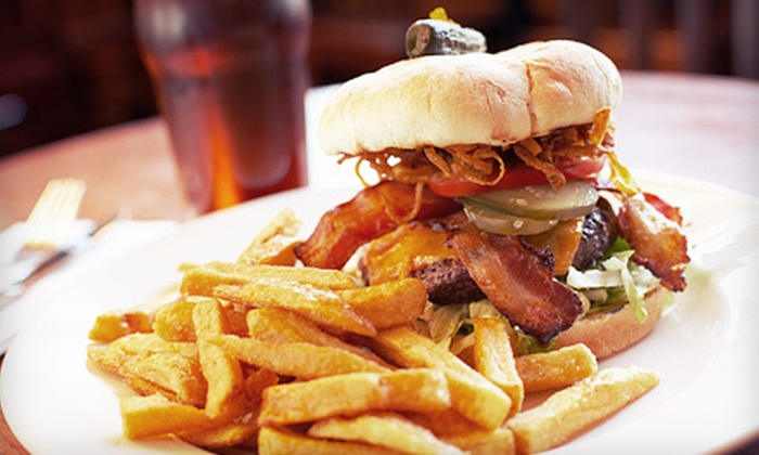 Van Diemens Cafe & Bar - Kips Bay: Burger Dinner with Fries, Beer, and Dessert for Two or Four at Van Diemens Cafe & Bar (Up to 59% Off)