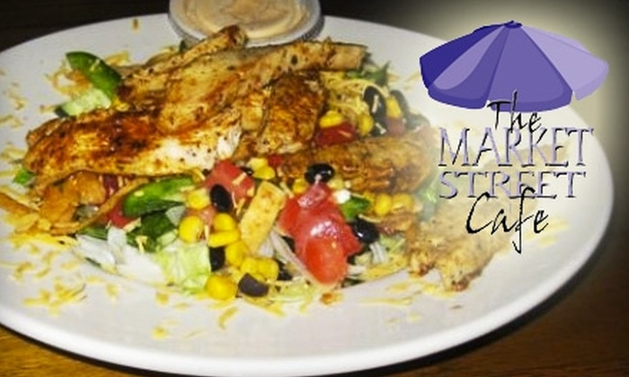 The Market Street Cafe - Hilton Head Island: $10 for $20 Worth of American and Mediterranean Fare at Market Street Cafe on Hilton Head