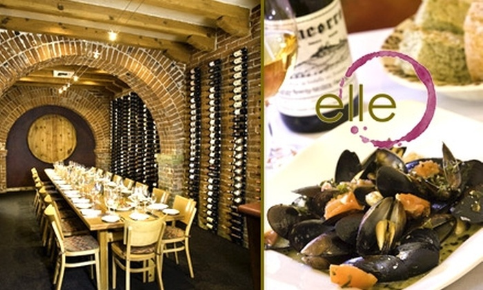 elle, Wine Country Restaurant - Hedrick Acres: $15 for $30 Worth of Seasonal Cuisine and Drinks at elle, Wine Country Restaurant