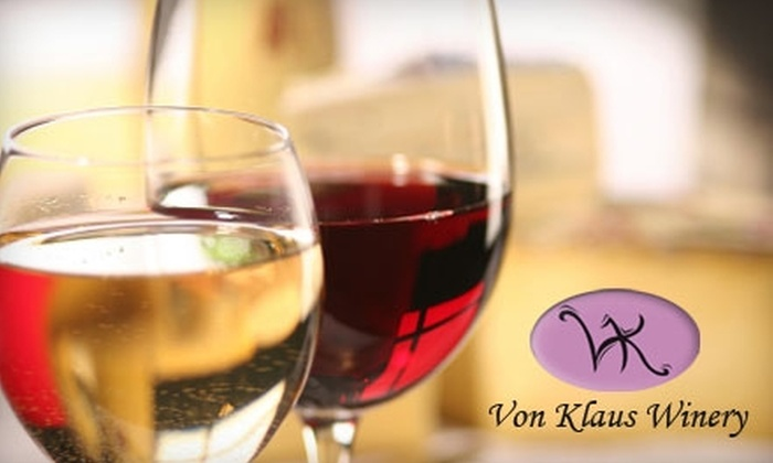 Von Klaus Winery - Baraboo: $35 for a Four-Course Wine Tasting for Two and a Bottle of Wine to Take Home from Von Klaus Winery in Baraboo (Up to $72 Value)