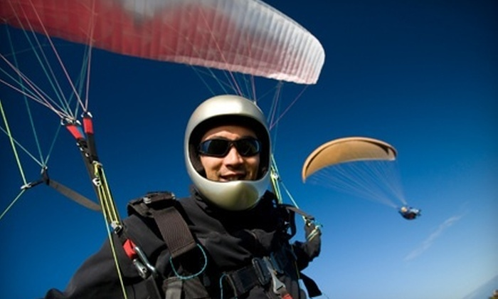 Let's Go Paragliding - North East: Introduction Day to Paragliding from Let's Go Paragliding in Millerton (Up to 58% Off)