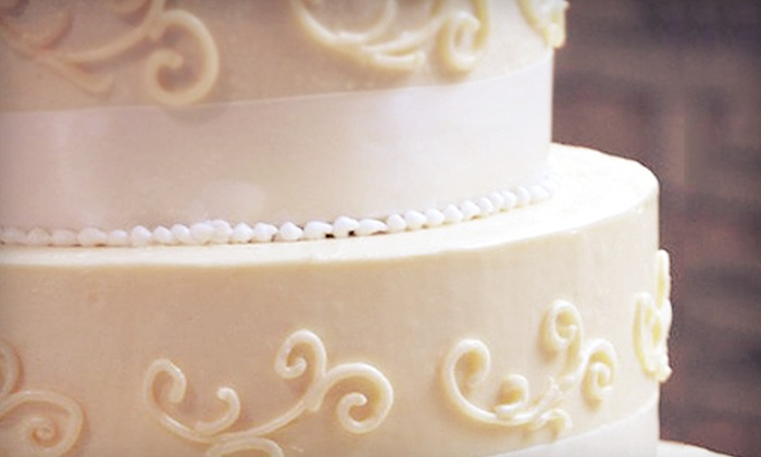 C. Marie's Sweets - Colleyville: $175 for a Classic Buttercream Vintage-Style Wedding Cake for 100 at C. Marie's Sweets ($350 Value)