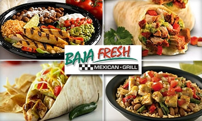 Baja Fresh - Midtown Center: $8 for Any Two Burritos or Bare Burritos at Baja Fresh. Buy here for the Lexington Avenue location. See Below for Broadway location.