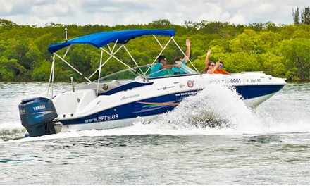 Full-Day Boat Rental at Naples Extreme Family Fun Spot (Up to 51% Off). Three Options Available.