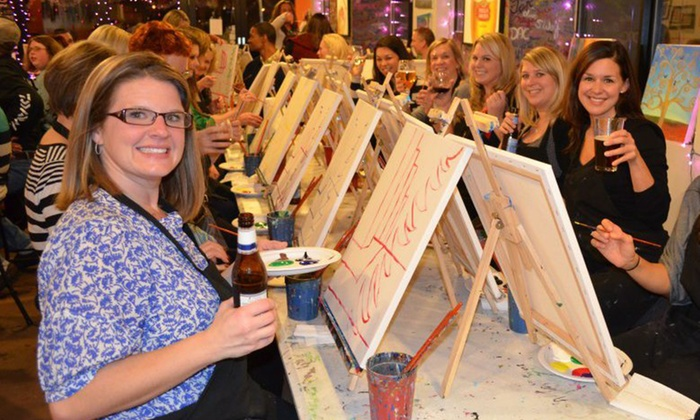 Paint Entertainment - Multiple Locations: Painting Party Admission for One, Two, or Four from Paint Entertainment (Up to 51% Off)