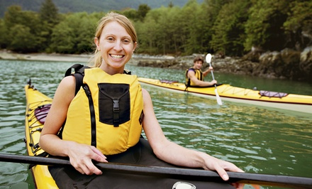 Kayak Rental for One or Two from Adventures Campground & Float Trips (Up to 50% Off). Two Options Available.