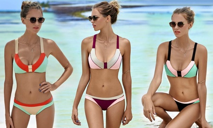 Colourblock Bikini in Choice of Size for AED 59 (87% Off)