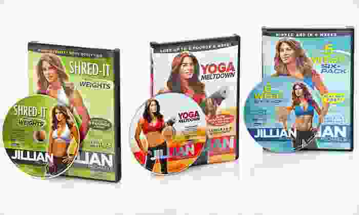 Jillian Michaels DVD Three-Pack: $20 for Three Jillian Michaels Workout DVDs ($44.94 List Price). Two Options Available. Free Shipping and Free Returns.
