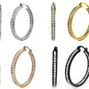 Inside Out Crystal Hoops with Swarovski Elements