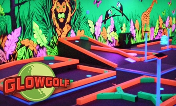 Glowgolf - Aurora: $8 for Two Adult Passes ($16 Value) or $6 for Two Child Passes ($12 Value) Good for Three Rounds of Mini Golf at Glowgolf