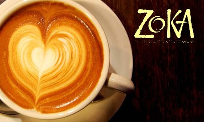 Zoka Coffee Roasters & Tea Company - Multiple Locations: $5 for $10 Worth of Coffee and Tea (or $15 for $30 Worth of Online Coffee and Tea Products) at Zoka Coffee Roasters & Tea Company