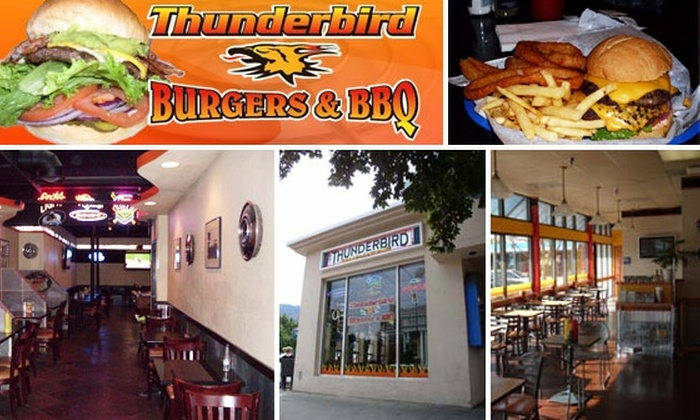 Thunderbird Burger - University Hill: $10 for $20 Worth of Burgers, BBQ, and Drinks at Thunderbird Burger & BBQ