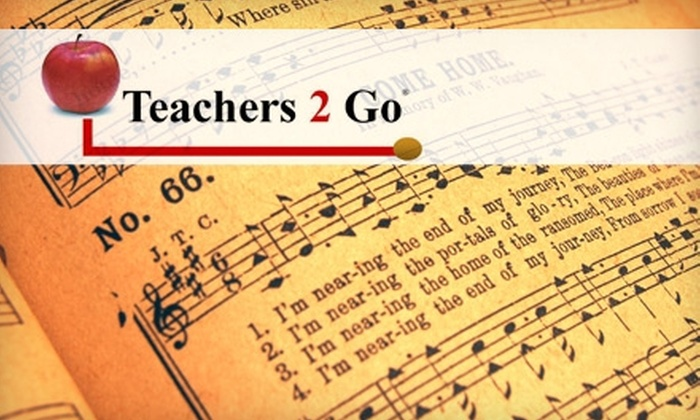 Teachers 2 Go - Briarforest: $25 for Two 30-Minute Private Lessons in Piano, Guitar, or Voice from Teachers 2 Go ($60 Value)