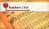 Teachers 2 Go, LLC - Briarforest: $25 for Two 30-Minute Private Lessons in Piano, Guitar, or Voice from Teachers 2 Go ($60 Value)