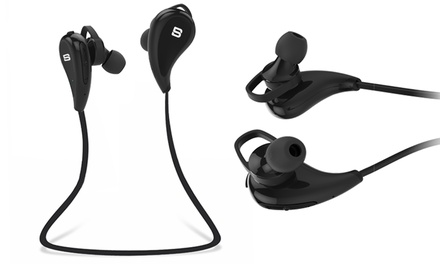SoundBot Wireless Sports Headset with Bluetooth 4.1, Mic, and Intuitive Voice Prompt