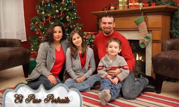 El Paso Portraits - El Paso: $49 for On-Location Family or Pet Photo Session, 12 4x6 Holiday Cards, and Personalized Video DVD of Images From El Paso Portraits ($288.66 Value)