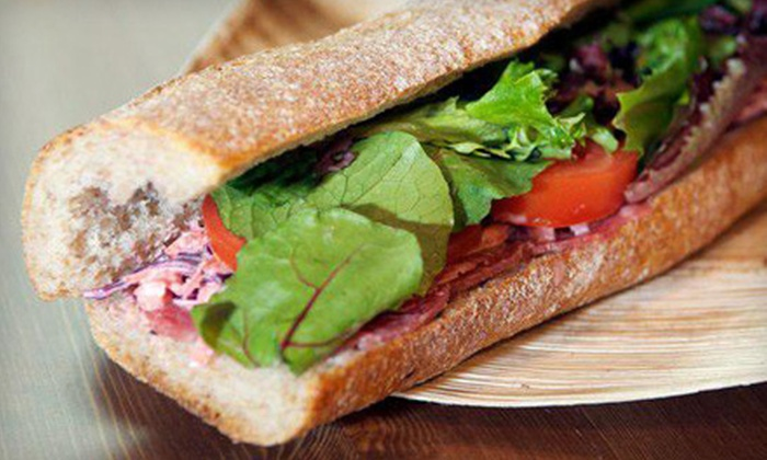 Jezalin's - Flatiron District: Artisan Sandwich Meal with Chips or Pretzels and Drinks for One or Two at Jezalin's (Up to 66% Off)