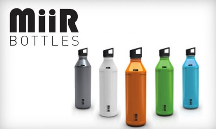 MiiR: $12 for a 600 ML ($23 Value) or an 800 ML ($25 Value) Stainless-Steel Water Bottle with Personalized Skin from MiiR
