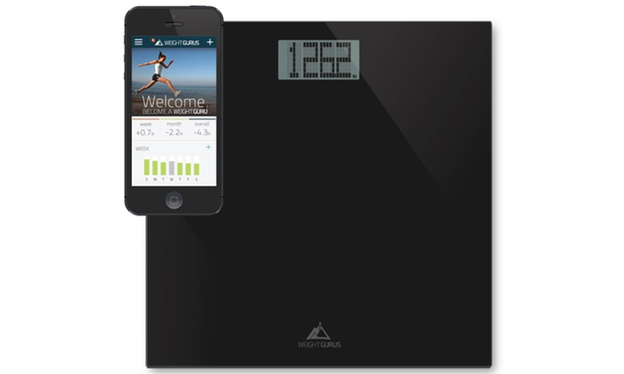 Bathroom Scale weight gurus digital bathroom scale with large display | groupon